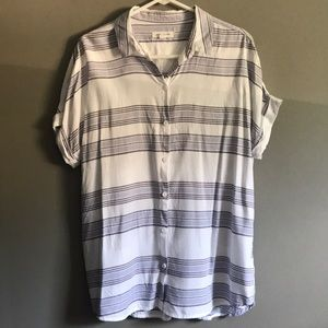 Cute stripe blouse by beachlunchlounge -Size Large